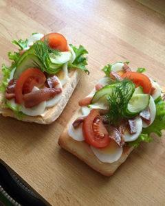 Ägg och ansjovissmörgås 40:-